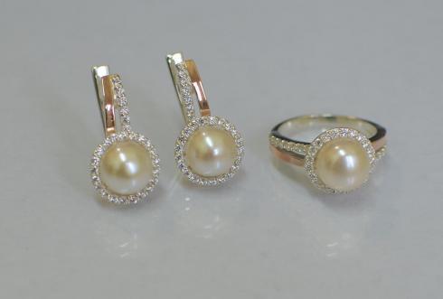 Срібні набори(сережки та каблучка) 07a6230f94ee6