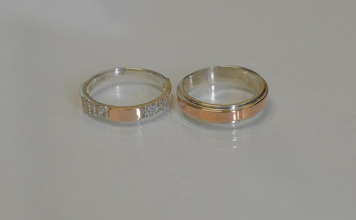 Пара срібних обручок купити 1af02640cbdcc