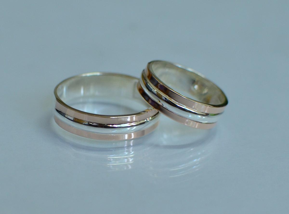 Обручка із срібла з золотом купити 46552ccc9549f